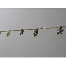 Łańcuszek na nogę złoty pr.585 ŁN9