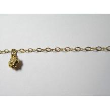 Łańcuszek na nogę złoty pr.585ŁN3