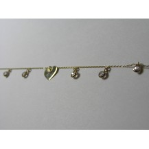 Łańcuszek na nogę złoty pr.585 ŁN10