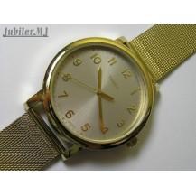 Timex T2N598.Damski pozłacany zegarek na siatkowej bransolecie.NOWOŚĆ.