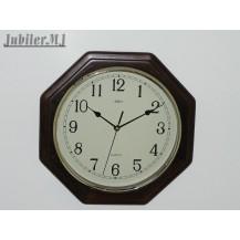 Adler 21023.Zegar ścienny drewniany-brąz.