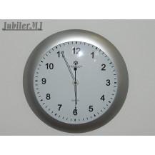 Perfect PW 171.Zegar ścienny w kolorze srebrnym.