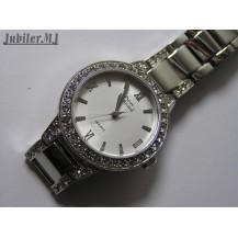 Pierre Ricaud P21074.5163QZ.Damski pozłacany zegarek na bransolecie.
