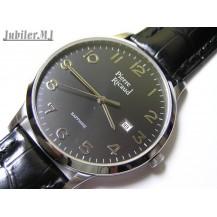 Pierre Ricaud 9102.5224.Męski stalowy zegarek na pasku z datownikiem.