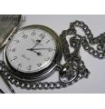 Timemaster 011/06.Męski stalowy, kieszonkowy zegarek na łańcuszku.
